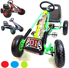 NEW RIDE PEDAL PUSH ON KIDS JUNIOR GO KART RUBBER TYRES ADJUSTABLE SEAT