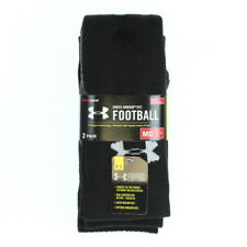 Under Armour 3102 Athletic Gym Heatgear OTC Football Socks (2 Pair) Black Gray