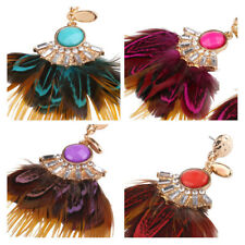 Earrings Bohemia Tassel Exaggeration 1Pair Ladies Feather Jewelry Exquisite