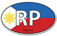Philippines RP Flag Oval Vinyl Sticker (phone, bumper, xbox, ps4, car, window)