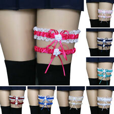 2Pcs Women Bowknot Lace Garter Sexy Bridal Leg Garter Wedding Cosplay Decor Wort