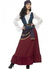 Deluxe Ladies Buccaneer Costume Womens Pirate Fortune Teller Fancy Dress Outfit