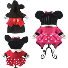 Pet Dog Cat Christmas Costume Cute Minnie Mickey Mouse Coat Fancy Dress Clothes