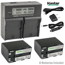 BP-970G Battery& LCD Dual Charger for Canon XH G1, XH-A1, XH-G1, XL1, XL-1, XL1S