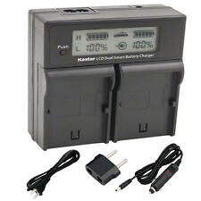BP-970G Battery& LCD Dual Charger for Canon ES-7000es 7000V 8000 8000V 8100