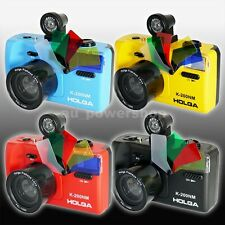 HOLGA K200NM 35mm Film 135 Format Camera Viewer Fisheye Lens Flash LOMO 4 Colors