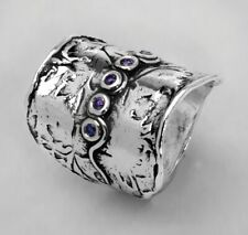 New SHABLOOL Ring Purple Amethyst Stone 925 Sterling Silver Jewelry Lady