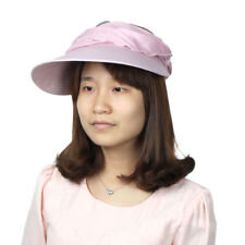 Women Summer Floral Decor Foldable Wide Brim Beach Travelling Sun Hat Visor Cap