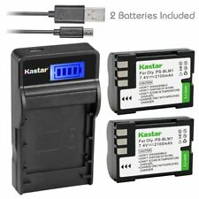 PS-BLM1 Battery & Slim LCD Charger for Olympus E-520, EVOLT E-300, EVOLT E-330
