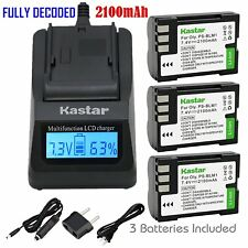 PS-BLM1 Battery & Fast Charger for Olympus C-7070 C-8080 E-1 E-3 E-30 E-520