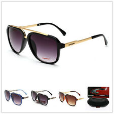 2017 new fashion Men & Women's Retro Style Sunglasses Unisex Carrera Glasses+Box