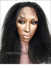 Kinky Curly Human Hair Lace Front Wig Black Women Brazilian Remy Afro Kinky Curl