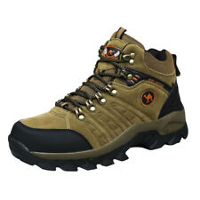 Men's lightweight low cut leather comfortable brown climbing hiking shoes boots