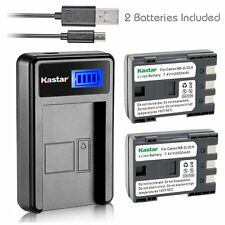 NB-2L Battery & LCD Slim Charger for Canon PowerShot G7 G9 S30 S40 S45 S50 S60