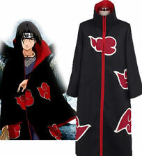 Akatsuki Itachi Uchiha Robe Cloak Coat Anime Hokage Halloween Cosplay Costume US