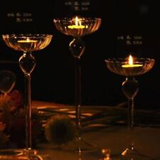 Magideal Glass Candle Holder Candlestick Tealight Wedding Party Home Decor PICK