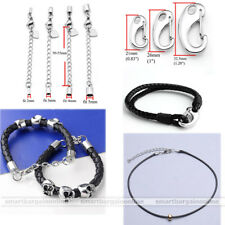 Stainless Steel Silver Easy Open Lobster Clasp Necklace Bracelet Extension Chain