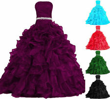 New Quinceanera Pageant Ball Gown Formal Prom Party Dress Wedding Bridal Gown