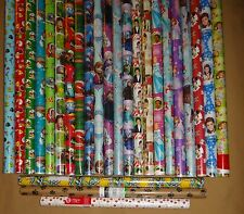 HARD TO FIND GIFT WRAP WRAPPING PAPER ROLLS