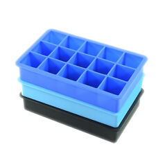 15 Ice Cubes Silicone Ice Cube Tray Mold Ice Maker Mould Cocktail Whiskey Frozen