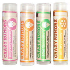 Crazy Rumors All Natural Shea Butter Flavored Lip Balm Vegan Cruelty Free NEW