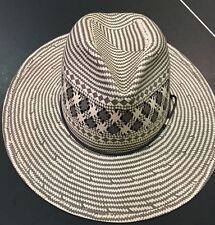 Rag & Bone Women's Straw Wide Brim Fedora  -Grey NWT S M L  $250