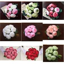 Magideal Wedding Silk Camellia Artificial Flower Bridal Bouquet Decor 9 Colors