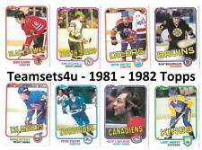 1981-82 Topps Hockey Set ** Pick Your Team ** See checklist