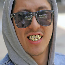 Fit 14k Gold Silver Plated Hip Hop Teeth Grillz Toy Caps Top & Bottom Grill Set