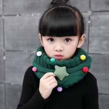 Baby Boys Girls Knitted Warm Neck Circle Scarf Collar Winter Scarf Neckerchief
