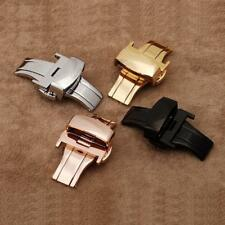 AU Push Button Stainless Steel Butterfly Deployment Buckle Clasp Watch Bands