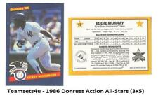 1986 Donruss Action All-Stars (3x5) Baseball Set ** Pick Your Team **