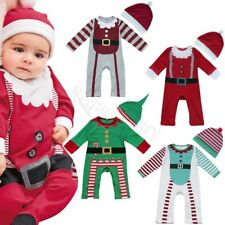 Baby Clothes Outfits Boy Girl Kids Romper Hat Cap Set Christmas 0-24 Months Hot