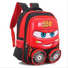 Disney Cars Lightning McQueen Shaped  Toddler Kids Backpack Red Blue School Boys