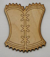 Corset Laser Cut Wood Shape Craft - Unfinished