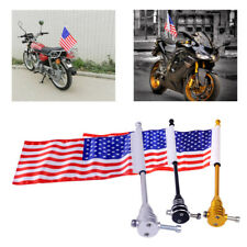 American USA Flag Flagpole for Motorcycle Harley Luggage Tail Flag Pole Mounting