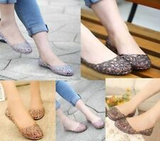Ladies Womens Summer Ventilate Crystal Shoes Jelly Hollow out Sandals Flat Shoes