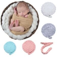 Cute Baby Newborn Photography Photo Props Knitted Rug Basket Stuffer Blanket Rug