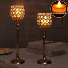 Magideal Crystal Candlestick Tea Light Votive Candle Holders Home Decor NEW