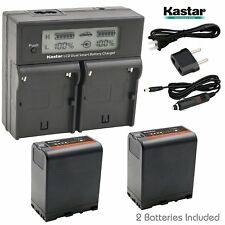 BP-U66 Battery & Dual Fast Charger for Sony PMW-300 PMW-EX1 PMW-EX1R PMW-EX3