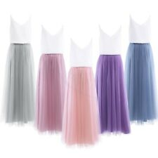 Elegant Women's Bridesmaid Evening Gown Formal Party Prom Long Mesh Maxi Dress