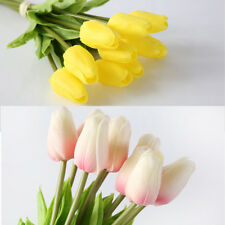 Lot of 2/6/12 Artificial Silk Tulip Flowers Bridal Party Wedding Home Decor WCV