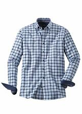 Men's Olymp Casual Blue/Navy Soft Flannel Check Shirt