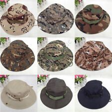 NEW Mens Bucket Boonie Hunting Fishing Outdoor Cap Canvas Military Sun Hat 091 X