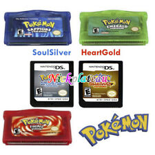 Pokemon Game Card 5 Versions for GBA/GBM/SP/NDS HeartGold SoulSilver Version NEW