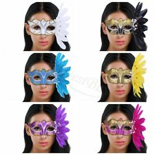 Mardi Gras Masquerade Party Fantasy Mask Wedding Halloween Ball Feather Eye Mask