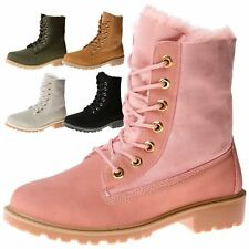Sadie Womens Flats Low Heels Lace Up Combat Ankle Boots Ladies Shoes Army Size