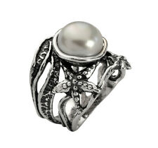 New SHABLOOL Ring Frshwater White Pearl 925 Sterling Silver Fine Jewelry
