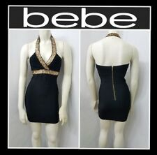 bebe SEQUIN HALTER BANDAGE DRESS CLUB SEXY SZ XS & S BLACK (NEW) MSRP $89
