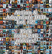 Action & Adventure DVD Lot #2: 246 Movies to Pick From! Buy Multiple And Save!